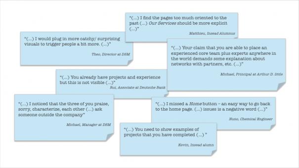 Exhibit 4 –Excerpts of feedback received.