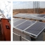Exhibit 2 – Example of a base station powered by a diesel generator (left), and one integrating solar PV (right)